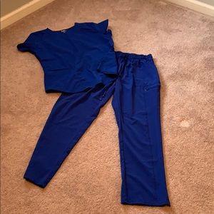 Royal blue scrubs
